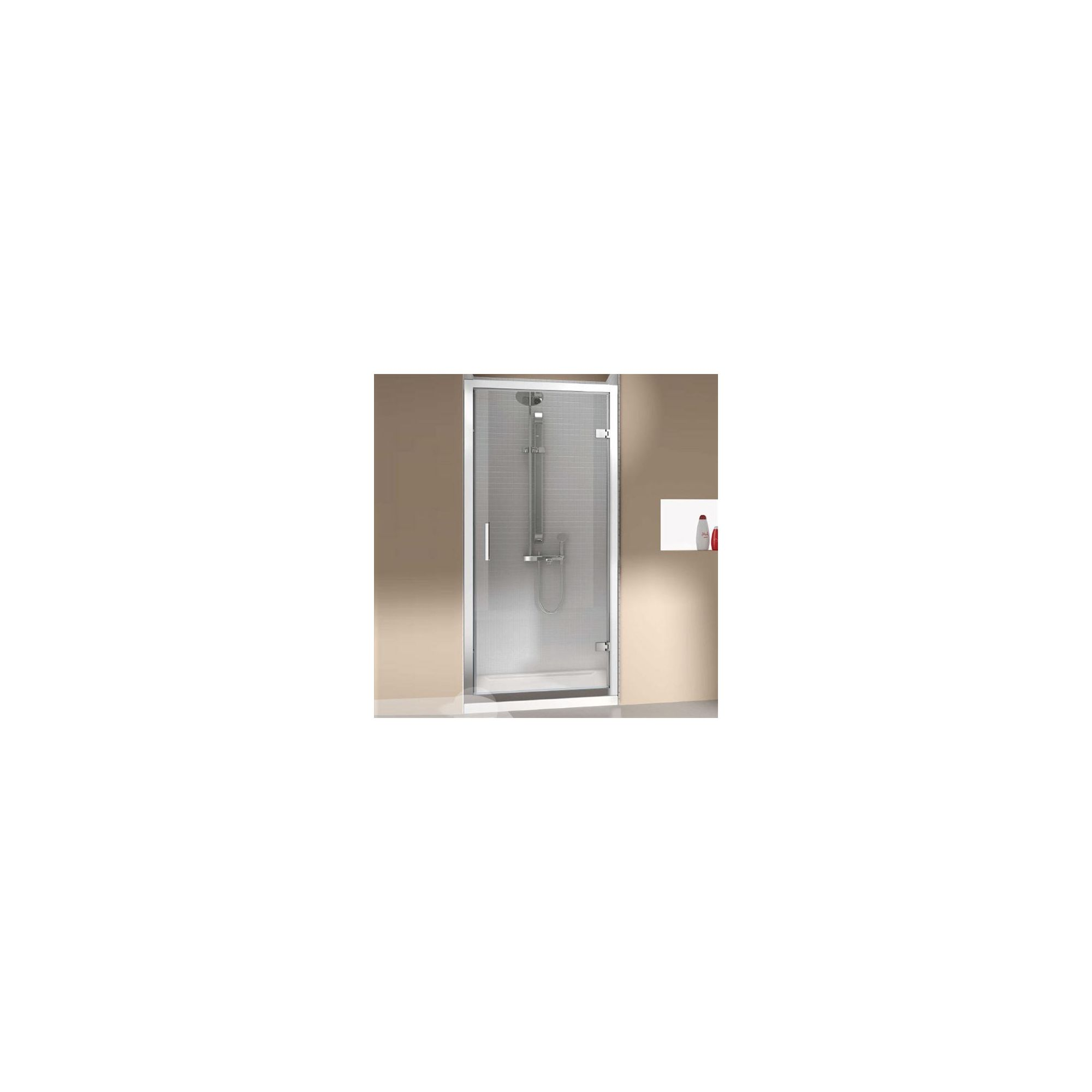 Merlyn Vivid Eight Hinged Shower Door Enclosure 800mm x 800mm (including Merlyte Tray) at Tesco Direct