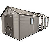 11ft x 26ft Duramax Plus Plastic Apex Shed with Plastic Floor + 8 windows (3.37m x 7.93m)