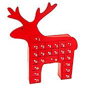 Red Wooden Reindeer Advent Calendar