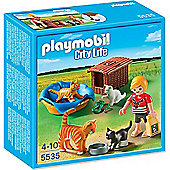 Playmobil Cat Family With Basket - City Life 5535