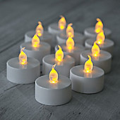 Set of 12 Battery Flickering LED Tea Lights