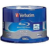 Verbatim Blu-ray Recordable Media - BD-R, 50 Pack