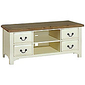 Kelburn Furniture Savannah 140cm TV Stand in Painted Ivory