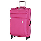 IT Luggage Megalite 4-Wheel Suitcase, Fuchsia Large