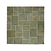 The Real Paving Company Sandringham Paving Random Patio Kit 5.76Sqm Graphite