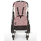 Outlook Cotton Travel Comfy Pram Liner (Red Elephant)