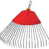 WOLF- Garten UBM 50cm Poly Body / Metal Tine Lawn Rake for use with Multi-change Handles