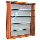 Solid Wood 4 Shelf Glass Wall Display Cabinet - Pine