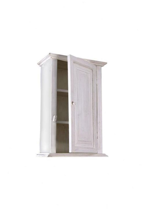 Papa Theo Wall Cabinet with Plain Door - Antique White