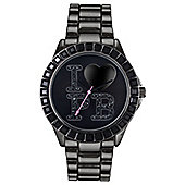 Paul's Boutique Scarlet Ladies Black Ion-plated Stone Set Watch PA002BKBK