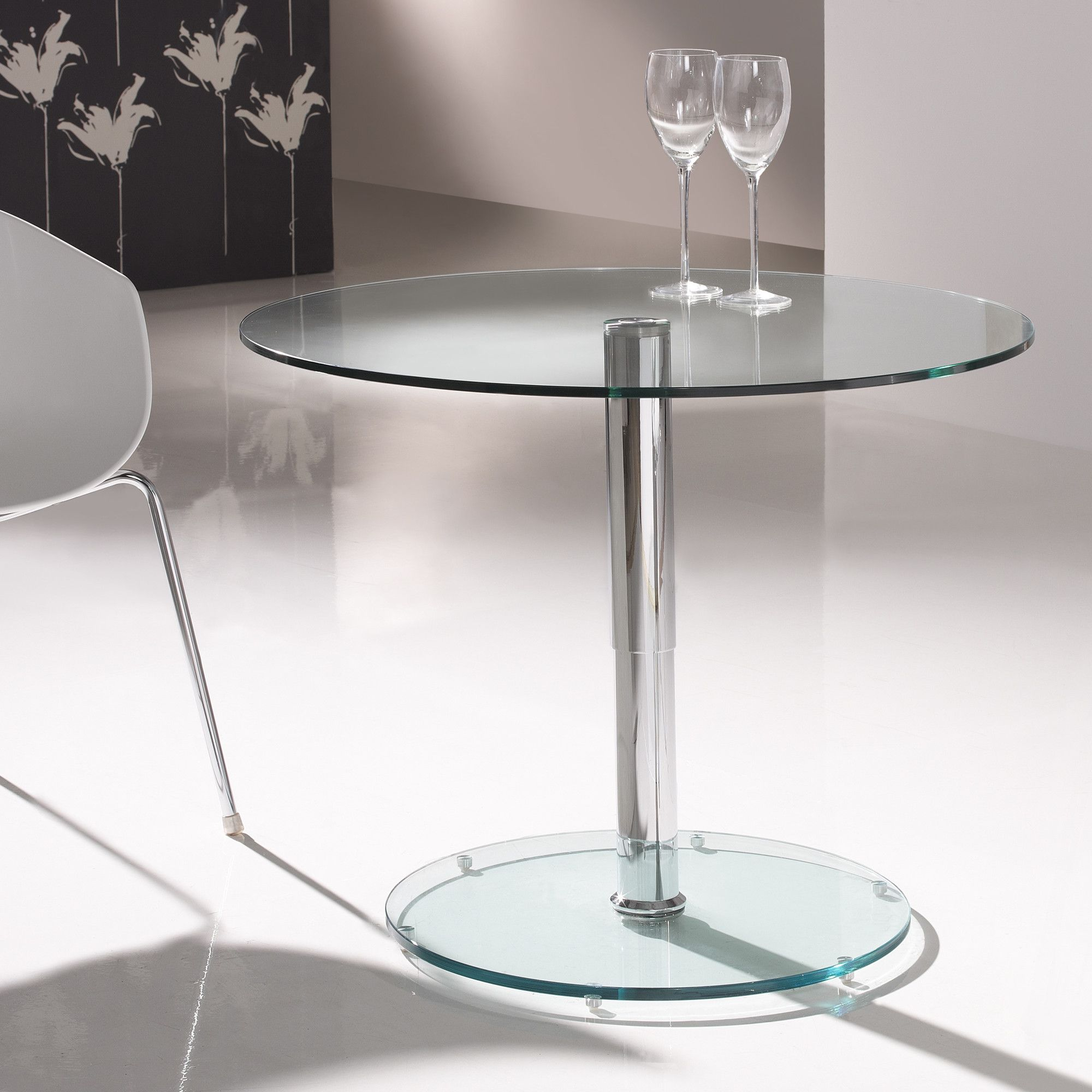Schuller Eclipse Glass Table - Clear Glass at Tesco Direct