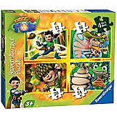 Tree Fu Tom 4 in a Box Puzzles