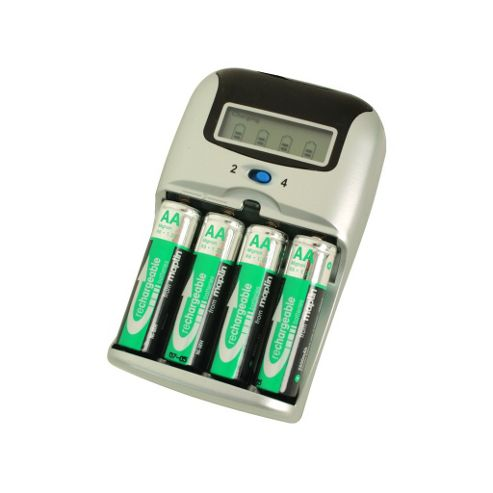 Fast Battery Charger with LCD Screen