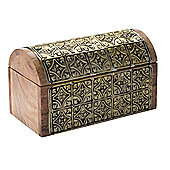 Linea Wooden Trinket Box In Gold