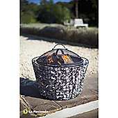 Cone Shaped Mesh Firepit with Grill