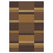 Mastercraft Rugs Mehari Orange Brown Block Rug - 80cm x 150cm