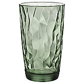 Bormioli Green Hammered Hiball Glass, Single