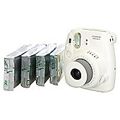 Fujifilm Instax Mini8 Bundle with 4 packs of film (40 shots) - WHITE