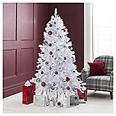 Festive White Iris Princess Pine Christmas Tree, 6ft