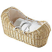 Isabella Alicia Natural Izzy-Pod Moses Basket (Dimple White)
