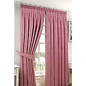 Viva Pencil Pleat Curtains 117 x 137cm - Pink