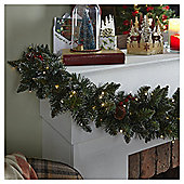 Berry and Pine Cone Traditional Christmas Garland, 1.8m