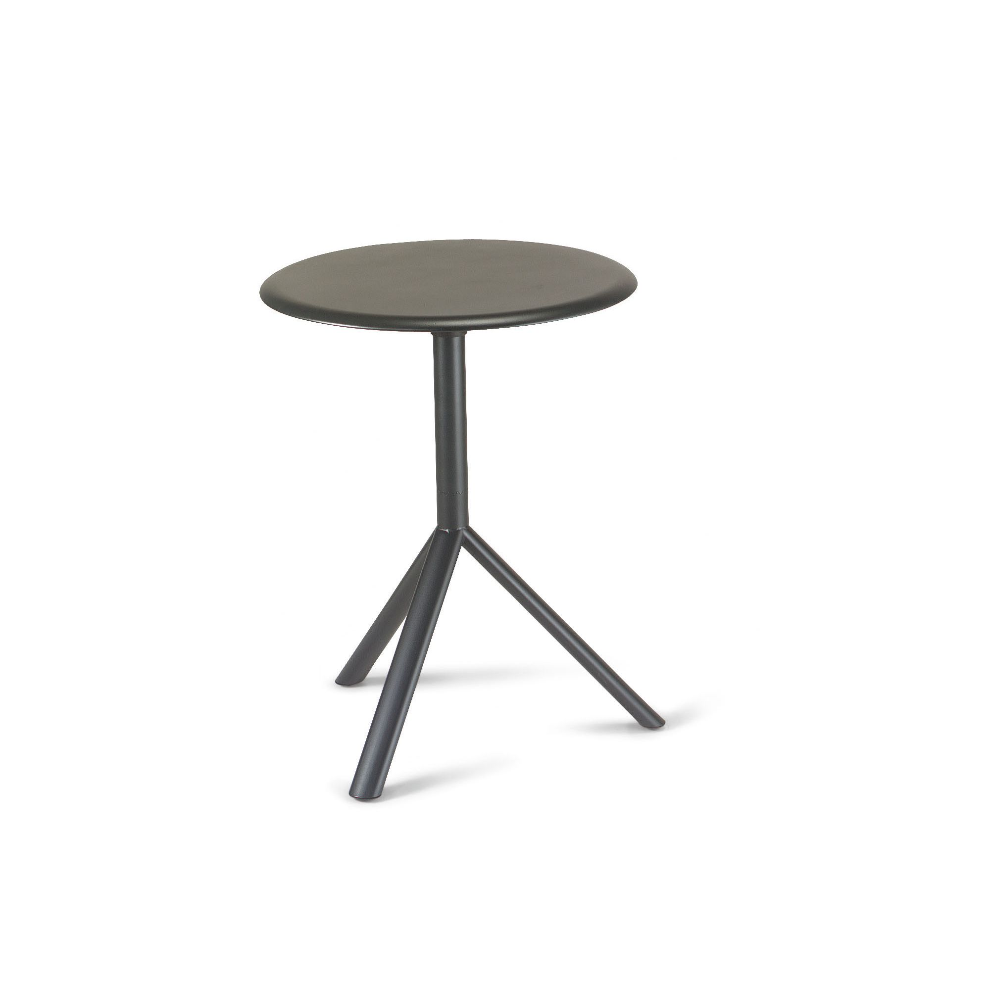 Plank Miura Round Table with High Pressure Laminate Top - 109cm - Black at Tesco Direct