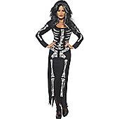 Skeleton Tube Dress - Adult Costume Size: 20-22