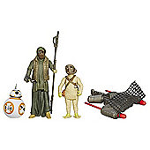 """Star Wars The Force Awakens 3 Figure Pack - BB-8, Unkar's Thug & Jakku Scavenger"""