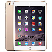 Apple iPad mini 3, 64GB, WiFi & 4G LTE (Cellular) - Gold