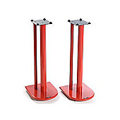 Pair of Speaker Stands in Red - Height 70cm