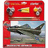 Airfix A55305 E E Lightning F2A Starter Set Medium 1:72 Aircraft Model Kit