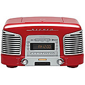 TEAC SLD930 CD/FM/AM RETRO HIFI SYSTEM WITH BLUETOOTH (RED)