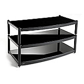 Atacama Audio Equinox TV Stand - Silver/ Piano Black