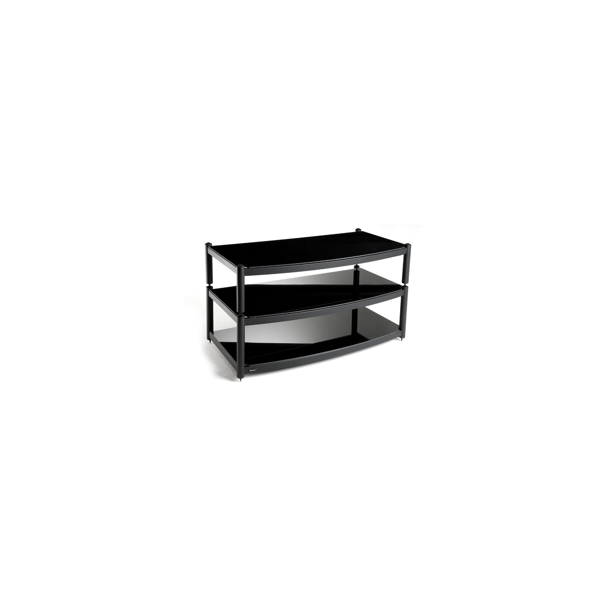 Atacama Audio Equinox Glass TV Stand for LCD / Plasmas - Silver/ Piano Black at Tesco Direct