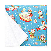 Baby Elephant Ears Luxury Pram Blanket Retro Rocket