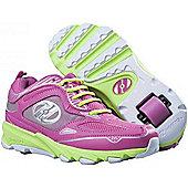 Heelys Swift Pink/Green/Silver Kids Heely Shoe - Pink