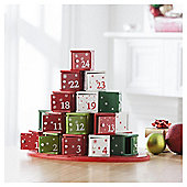 Festive Wooden Giftbox Advent Calender