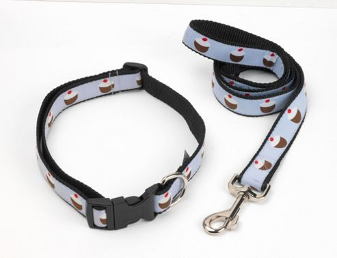 House of Paws Cupcake Dog Collar - Large (42cm-72cm W ) - Blue
