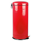 Tesco 30L Retro Kitchen Bin Red