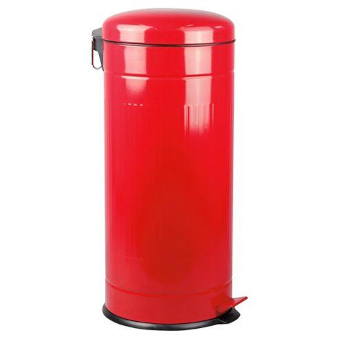 Buy 30l retro kitchen bin red from our bathroom bins for Red bathroom bin