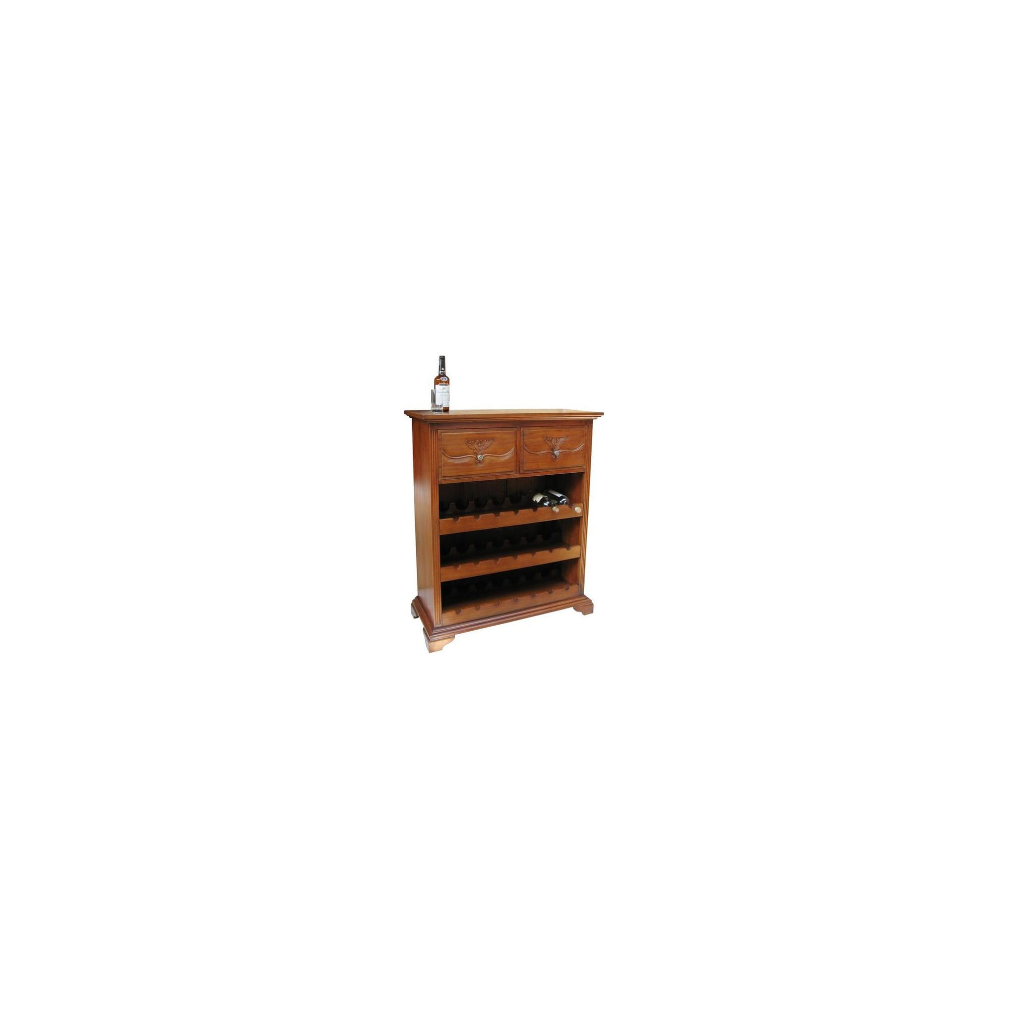 Lock stock and barrel Mahogany 2 Drawer Wine Rack in Mahogany at Tescos Direct