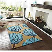 Oriental Carpets & Rugs Elements EL-30 Brown/Blue Rug - 120cm x 170cm