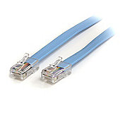StarTech.com Cisco Console Rollover Cable - RJ45 Ethernet - Network cable - RJ-45 (M) - RJ-45 (M) - 1.8 m - molded - blue
