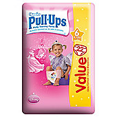 Huggies Pull Ups Size 6 Girl Econ Pack 22