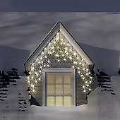120 Warm White & Ice White LED Multi-Function Icicle Lights
