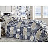 Dreams n Drapes Penzance Blue Bedspread - Blue