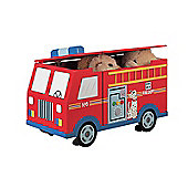 Teamson Fire Engine with Wheels Toy Box