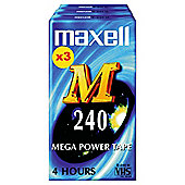 Maxell M240 VHS tapes - pack of 3