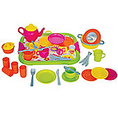 Gowi Toys 454-47 Dinner Service (Pink - 40 Piece Set)